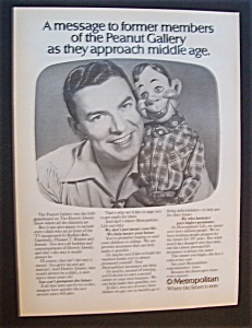 1975 Metropolitan Life Insurance Co. W/tv's Howdy Doody