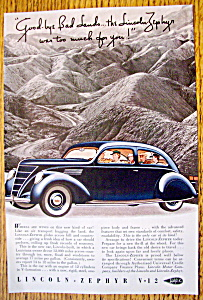 Vintage Ad: 1937 Lincoln-Zephyr V-12 (Image1)
