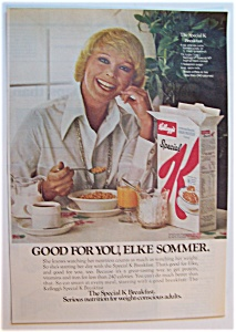 1975 Kellogg's Special K With Elke Sommer