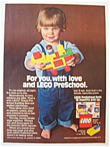 1978 Lego Pre-School Building Sets w/Child Playing (Image1)