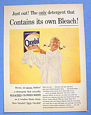 1956 Oxydol Detergent w/Girl Wearing Shirt & Oxydol (Image1)