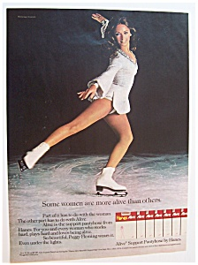1974 Hanes Alive Pantyhose With Peggy Fleming