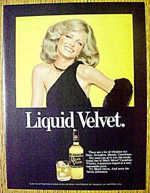 1978 Black Velvet Whiskey with Model Cheryl Tiegs (Image1)