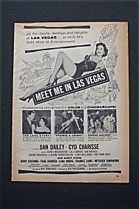 1956 Meet Me In Las Vegas With 3 Scenes From Movie