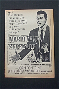 1956 Serenade With Mario Lanza