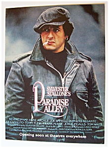 1978 Movie Ad For Paradise Alley