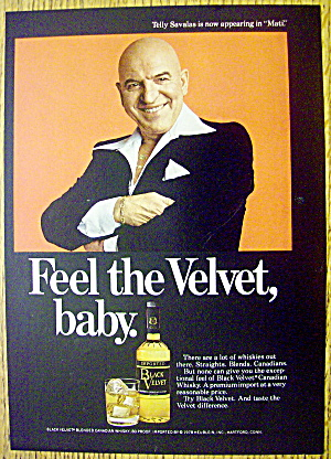 1978 Black Velvet Whiskey With Telly Savalas (Kojak)