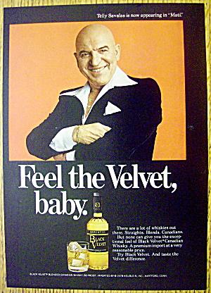 1978 Black Velvet Whiskey with Telly Savalas (Kojak) (Image1)