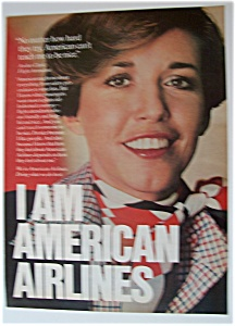 1976 American Airlines With A Flight Attendant