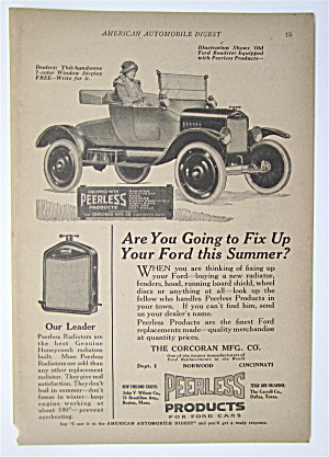 1923 Peerless Products with Woman Sitting in Car  (Image1)