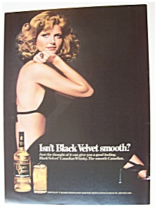 1975 Black Velvet Whiskey With Cheryl Tiegs