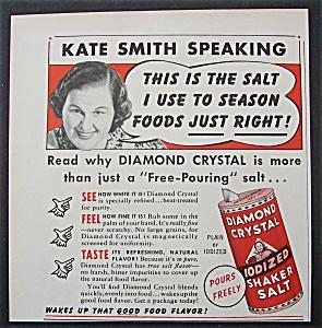 Vintage Ad: 1941 Diamond Crystal Salt w Kate Smith (Image1)