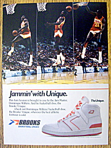 new arrival b2ed3 61744 Ad 1985 Brooks Basketball Shoes W  Dominique Wilkins