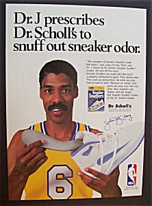 Vintage Ad: 1989 Dr. Scholl's Sneaker Snuffers w/Dr. J (Image1)