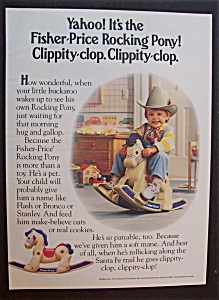 1989 Fisher-price Rocking Pony With Boy On Horse