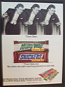 1989 Snickers & Milky Way Candy Bars with Dracula (Image1)