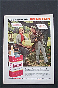 1956 Winston Cigarettes with Man & Woman Talking  (Image1)