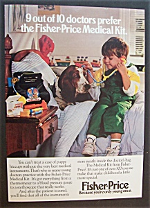1989 Fisher-price Medical Kit With Boy Playing Doctor