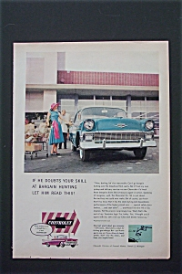 1956 Chevrolet with a Woman Putting Groceries in Car (Image1)