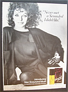 1986 Revlon Scoundrel Cologne With Joan Collins