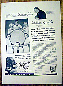 Vintage Ad: 1937 Bell & Howell Filmo W/ Ted Healy