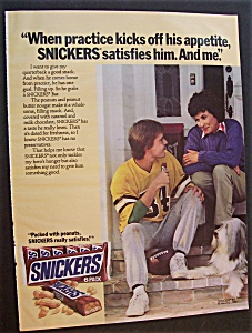 Vintage Ad: 1986 Snickers Candy Bar