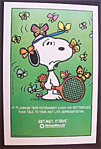 1988 Metropolitan Life Insurance Company With Snoopy