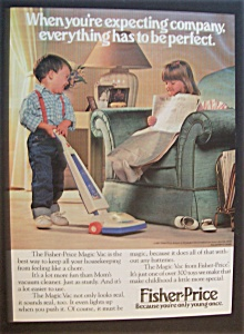 1989 Fisher-price Magic Vacuum With Boy & Girl