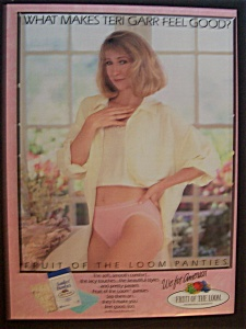 1990 Fruit Of The Loom Panties With Teri Garr