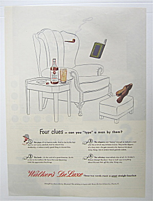1945 Walker's Deluxe Whiskey W/ Invisible Man Drinking