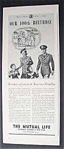 Vintage Ad: 1943 The Mutual Life Insurance Company (Image1)