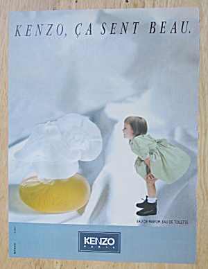 1992 Kenzo Parfum with Little Girl Looking at Perfume (Image1)