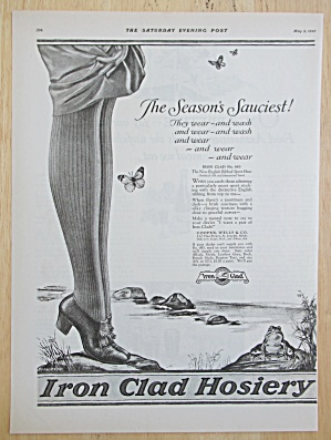 1925 Iron Clad Hosiery with Woman's Legs  (Image1)