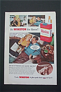 1956 Winston Cigarettes with Man & Woman Relaxing  (Image1)