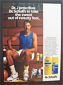 Vintage Ad: 1990 Dr. Scholl's With Julius (Dr. J)Erving (Image1)