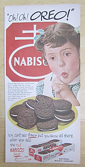 1951 Nabisco Oreo Cookies with Girl Looking at Cookies (Image1)