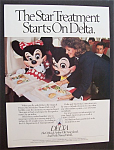 1990 Delta Airlines With Mickey & Minnie Mouse