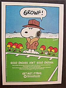 1987 Metropolitan Life Insurance Company w/Snoopy (Image1)