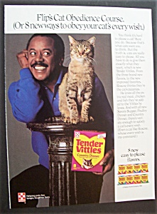 1986 Tender Vittles Cat Food With Flip Wilson