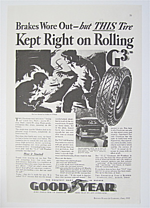 1934 Goodyear Tires with Brakes Wore Out  (Image1)
