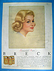 1961 Breck Shampoo w/ Blond Haired Breck Woman (Image1)