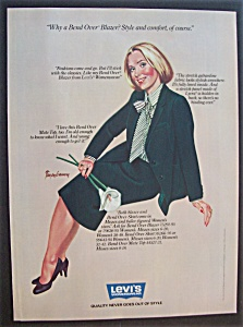 1981 Levi's Womenswear with Woman in Bend Over Blazer (Image1)