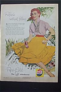 1956 Pepsi Cola (Pepsi) with Woman Sitting & Drinking  (Image1)