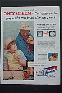 1956 Gleem Toothpaste w/ Boy & Grandpa Having Sandwich (Image1)