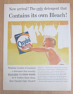 1956 Oxydol Detergent with Baby Pointing at a Box  (Image1)