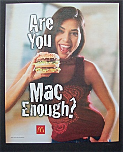 2003 Mc Donald's Restaurant With Are You Mac Enough