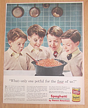 1956 Franco-American Spaghetti w/4 Boys That Look Alike (Image1)