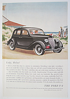 1936 Ford V-8 with Black Ford V-8  (Image1)
