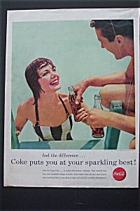 1956 Coca Cola (Coke) with Woman Getting Out of Pool (Image1)