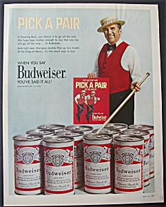 1971 Budweiser Beer With Ed Mcmahon